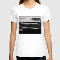 kerouac T-shirts featuring Shiny Car in the Night by Bella Blue Photography