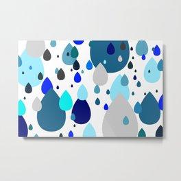 MaxLimit Shapes 02 - Raindrops Metal Print
