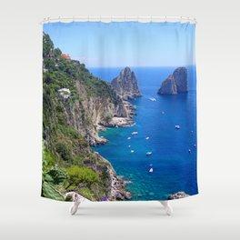 Isle of Capri Coastline Shower Curtain