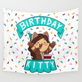 Birthday Kitty (2018) Wall Tapestry