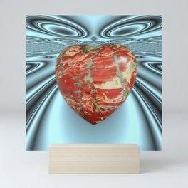 RED JASPER Heart in Universe Mini Art Print