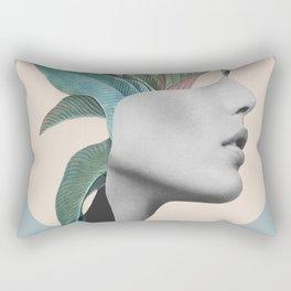 Floral Portrait /collage Rectangular Pillow