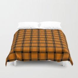 Dark Orange Weave Duvet Cover