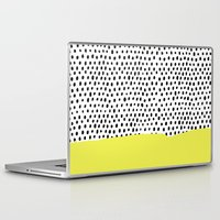 polka dot Laptop & iPad Skins featuring Polka dot rain dip by Maiko Nagao