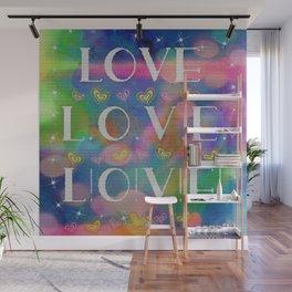 Love L.o.v.e. L!o!v!e! Wall Mural
