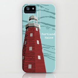 Portland Maine Observatory iPhone Case