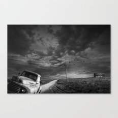 Decline of the Small American Farm in Black and White Canvas Print