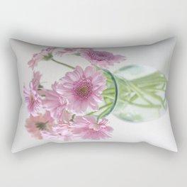 Pink Gerberas In A Vase  Rectangular Pillow