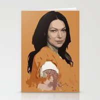 alex vause Stationery Cards featuring Vause Ass Bitch. by Fashionable