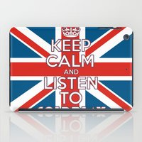 """coldplay iPad Cases featuring """"Keep Calm and Listen to Coldplay""""-Union Jack by Fabfari"""