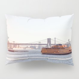 Staten Island Ferry to Manhattan Pillow Sham
