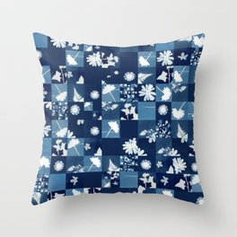 Flower Quilt Throw Pillow
