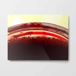 Red Glass Crystals Metal Print