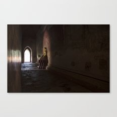 BUDDHA, SOAKING UP THE LIGHT Canvas Print