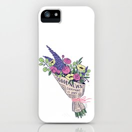Good News Flowers iPhone Case
