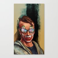 grand theft auto Canvas Prints featuring Grand Theft Auto Online Characters - The Legend of The Damned by W.Flemming