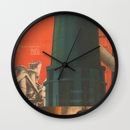 Soviet Propaganda Poster - There is No Industry without Heavy Industry (1930) Wall Clock