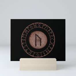 Uruz Elder Futhark Rune determination, persistence, freedom, courage, will, territoriality Mini Art Print