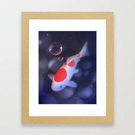 Kohaku Koi Fishu Framed Art Print
