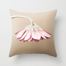 Vintage Dusty Rose Drooping Flower Throw Pillow