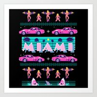 Miami Christmas Art Print