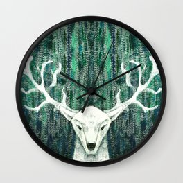 Christmas Stag handpainted Wall Clock