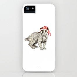 Christmas Honey Badger iPhone Case