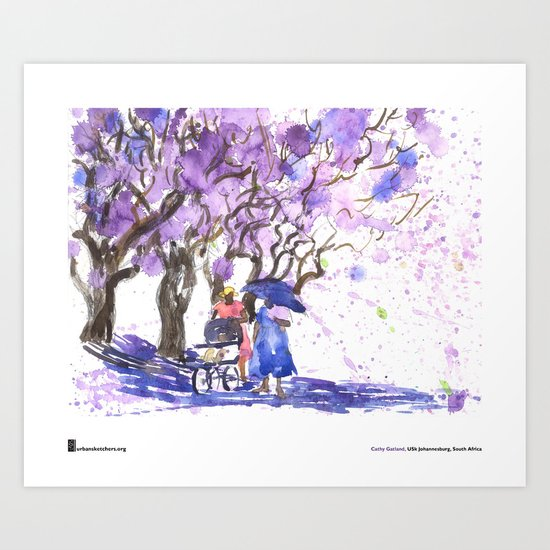 "Cathy Gatland, ""Jacaranda Shower"" Art Print"