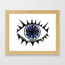 Blue Eye Warding Off Evil Framed Art Print
