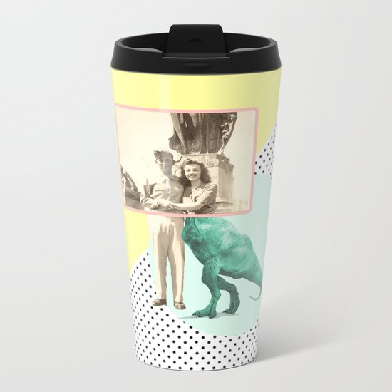 Who would like to date a t-rex Metal Travel Mug