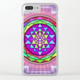 Sri Yantra VII.IX Clear iPhone Case