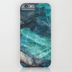 Real Marble - Cerulean Blue Marble Texture Slim Case iPhone 6s