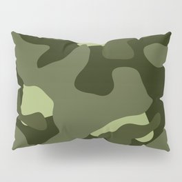 Forest Camo Pattern Pillow Sham