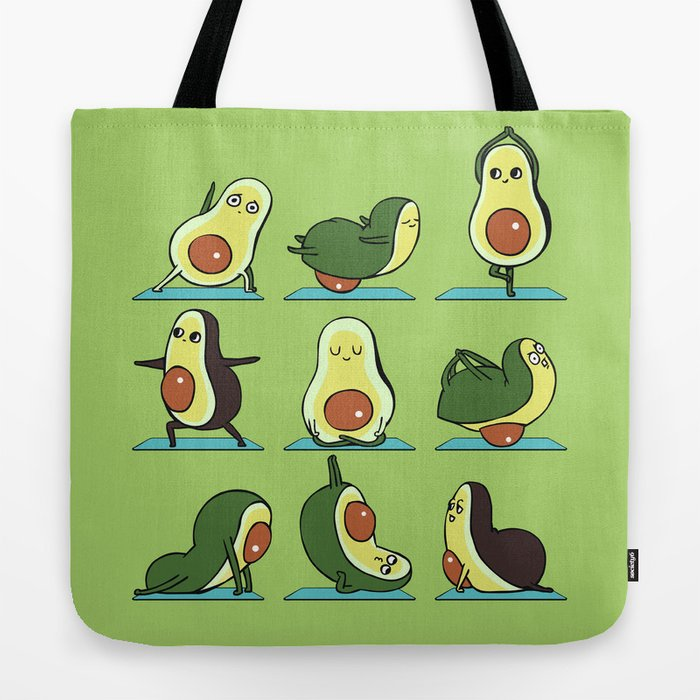 Avocado Yoga Tote Bag