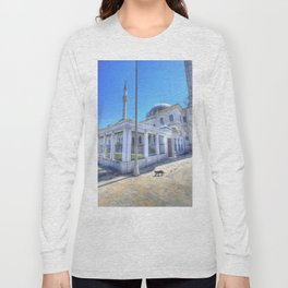 Istanbul Mosque Cat Long Sleeve T-shirt