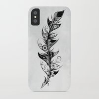 feather iPhone & iPod Cases featuring Feather by LouJah