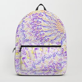 Yellow & Purple design Backpack