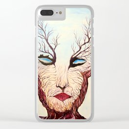 WOMAN TREE Clear iPhone Case