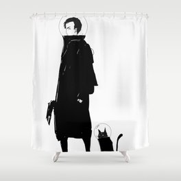 Phazed Shower Curtain