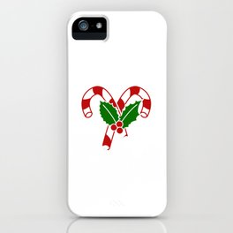 Christmas Naughty Humor Adult Humor Xmas Candy Cane It's Not Going To Lick Itself T-shirt Design iPhone Case