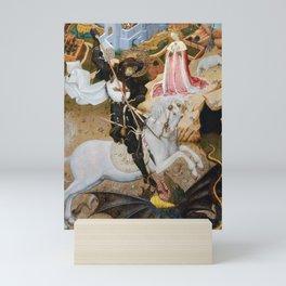 Saint George Killing the Dragon by Bernat Martorell (1435) Mini Art Print