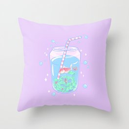 Koi Fish Can II Throw Pillow