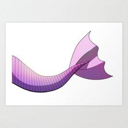 Pink Mermaid Tail V2 Art Print