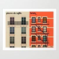 Art Prints featuring la façade by Vahram Muratyan