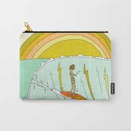surf legend gerry lopez lightning bolt retro surf art by surfy birdy Carry-All Pouch