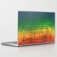 vw bus Laptop & iPad Skins featuring VW by SerenityBusHome