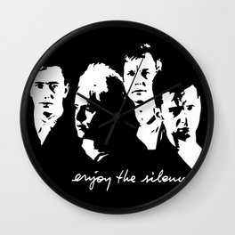 Enjoy The Silence Wall Clock