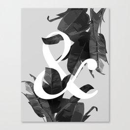 Botanical Ampersand Canvas Print