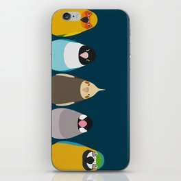 Five birds - tori no iro iPhone Skin