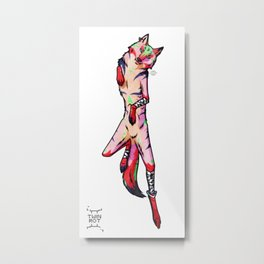 Vibrant She-Wolf Metal Print